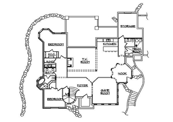 European Floor Plan - Lower Floor Plan Plan #5-447