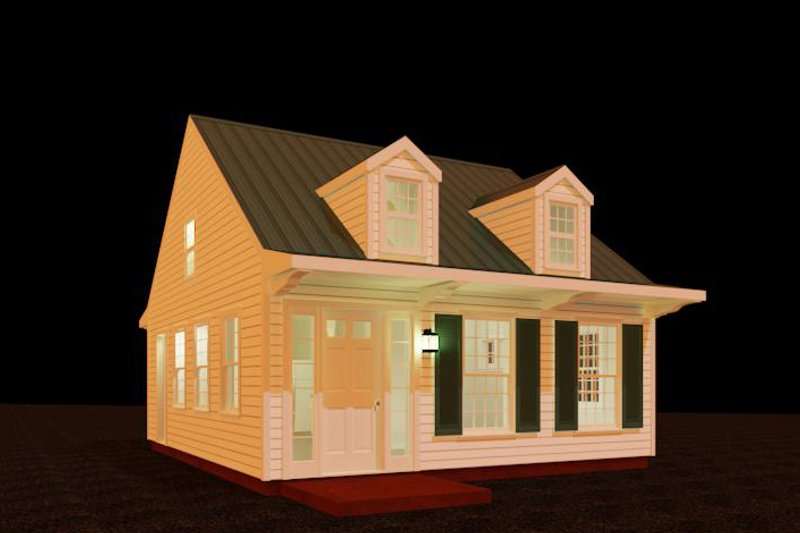 Country Style House Plan - 1 Beds 1 Baths 484 Sq/Ft Plan #917-32