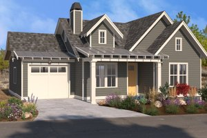 Traditional Exterior - Front Elevation Plan #895-130