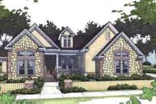 Southern Exterior - Front Elevation Plan #120-154