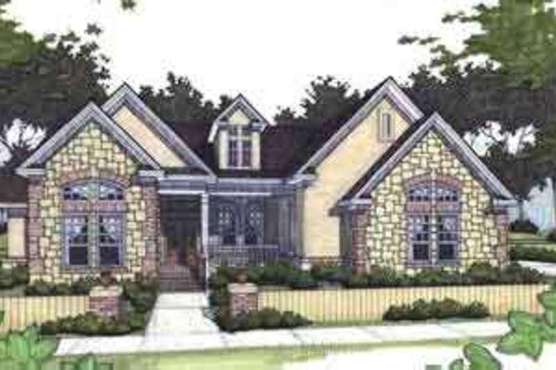 Home Plan - Southern Exterior - Front Elevation Plan #120-154