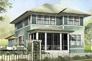 Prairie Style House Plan - 4 Beds 3.5 Baths 2401 Sq/Ft Plan #901-116 Exterior - Front Elevation