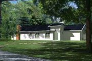 Adobe / Southwestern Style House Plan - 4 Beds 2 Baths 1963 Sq/Ft Plan #1-784