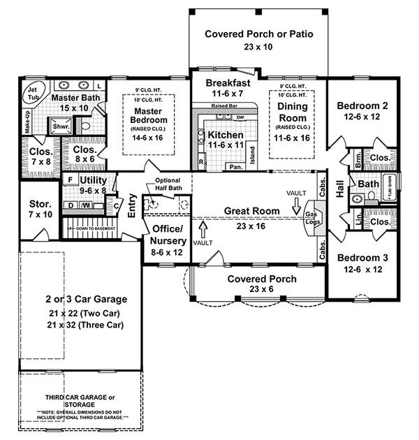 Country Floor Plan - Main Floor Plan Plan #21-130