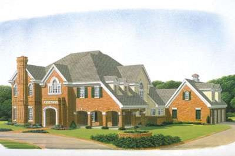 Dream House Plan - European Exterior - Front Elevation Plan #410-194