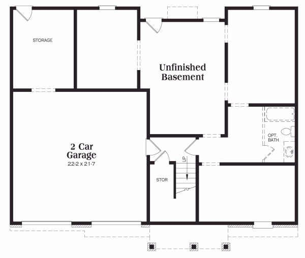 Traditional Floor Plan - Lower Floor Plan Plan #419-113
