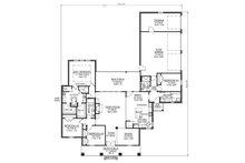 Southern Floor Plan - Main Floor Plan Plan #1074-19