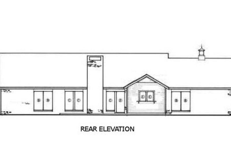 Ranch Exterior - Rear Elevation Plan #45-190 - Houseplans.com