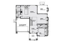 Modern Floor Plan - Main Floor Plan Plan #1066-9