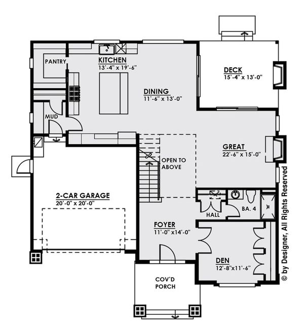 Modern Floor Plan - Main Floor Plan #1066-9