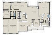 Country Style House Plan - 4 Beds 3 Baths 2563 Sq/Ft Plan #427-8 Floor Plan - Main Floor Plan