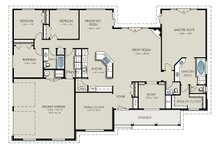 Country Floor Plan - Main Floor Plan Plan #427-8