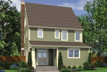 House Design - Traditional Exterior - Rear Elevation Plan #48-966