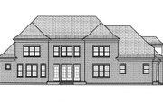 European Style House Plan - 5 Beds 4 Baths 4048 Sq/Ft Plan #413-820 Exterior - Rear Elevation