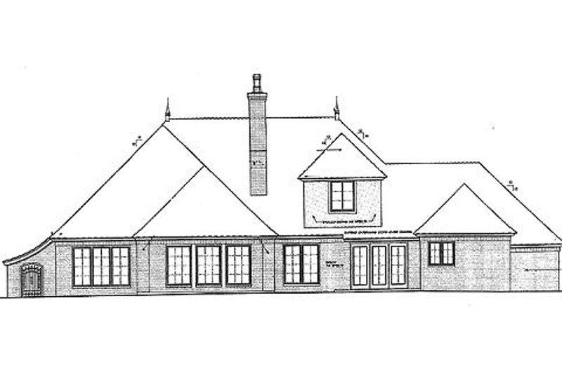 European Exterior - Rear Elevation Plan #310-695 - Houseplans.com