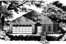 Traditional Exterior - Front Elevation Plan #40-262