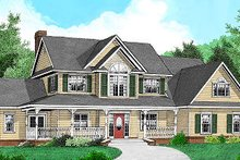 House Design - Country Exterior - Front Elevation Plan #11-222