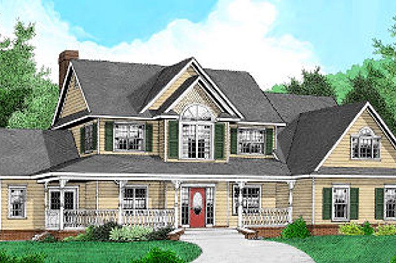 Country Exterior - Front Elevation Plan #11-222 - Houseplans.com