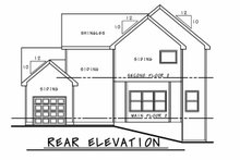 Architectural House Design - Farmhouse Exterior - Rear Elevation Plan #20-2392