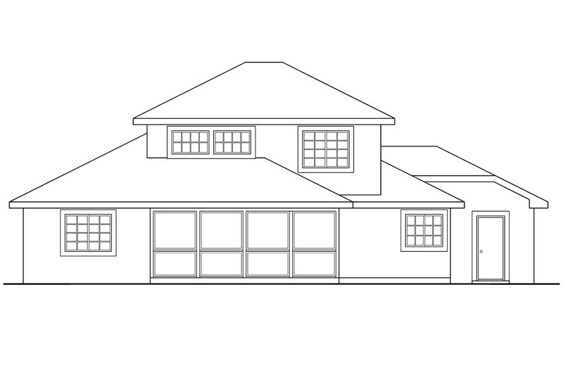 Traditional Exterior - Rear Elevation Plan #124-242 - Houseplans.com