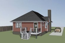 House Plan Design - Cottage Exterior - Other Elevation Plan #79-136