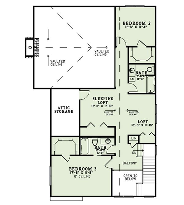 Craftsman Floor Plan - Other Floor Plan Plan #17-2542