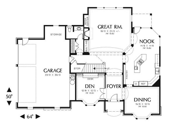 European Floor Plan - Main Floor Plan Plan #48-547