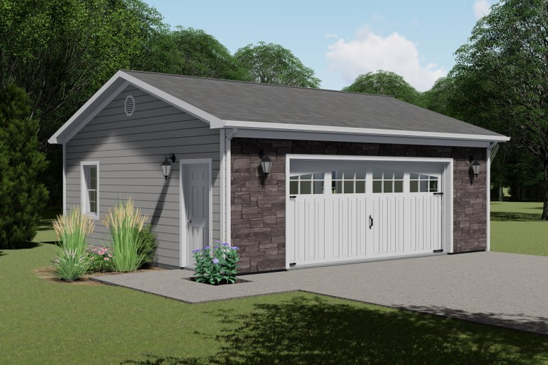 Dream House Plan - Craftsman Exterior - Front Elevation Plan #1064-63