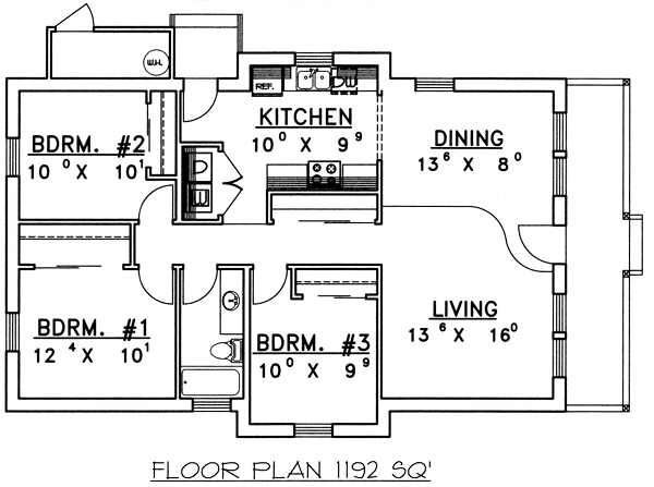 Country Floor Plan - Main Floor Plan Plan #117-143