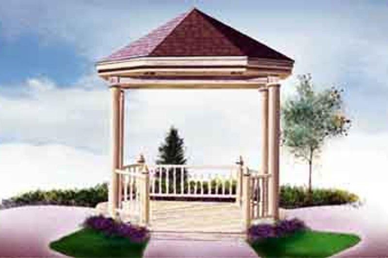European Style House Plan - 0 Beds 0 Baths 100 Sq/Ft Plan #25-4204