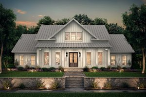 Dream House Plan - Farmhouse Exterior - Front Elevation Plan #430-215