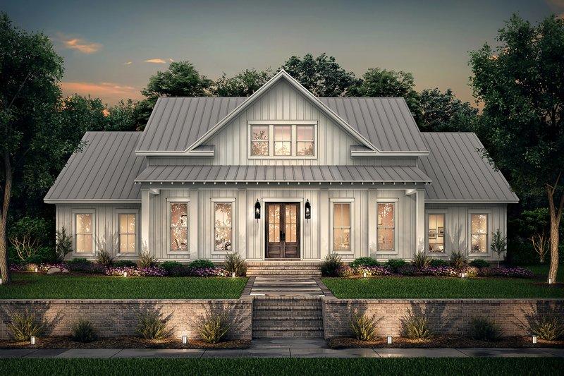 Dream House Plan - Farmhouse Exterior - Front Elevation Plan #430-215