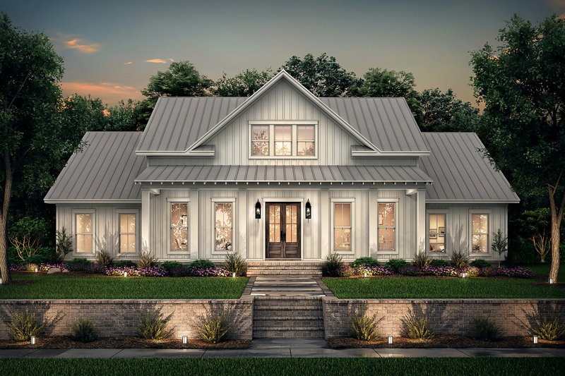 House Plan Design - Farmhouse Exterior - Front Elevation Plan #430-215