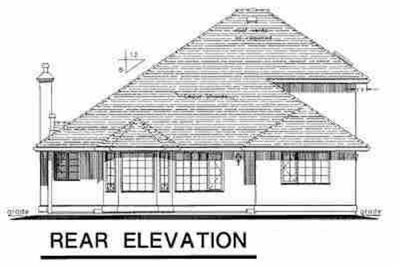 European Exterior - Rear Elevation Plan #18-238 - Houseplans.com