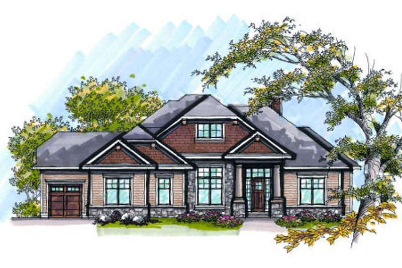 Home Plan - Bungalow Exterior - Front Elevation Plan #70-983