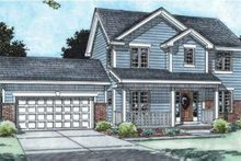 Dream House Plan - Traditional Exterior - Front Elevation Plan #20-1777