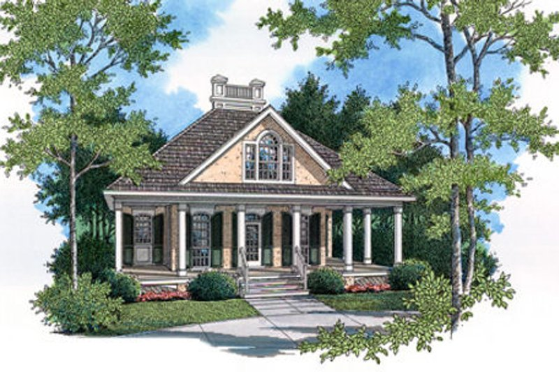 Southern Exterior - Front Elevation Plan #45-253