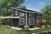 Contemporary Style House Plan - 2 Beds 2 Baths 1200 Sq/Ft Plan #23-2631 Exterior - Front Elevation