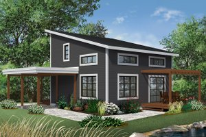 Home Plan Design - Contemporary Exterior - Front Elevation Plan #23-2631