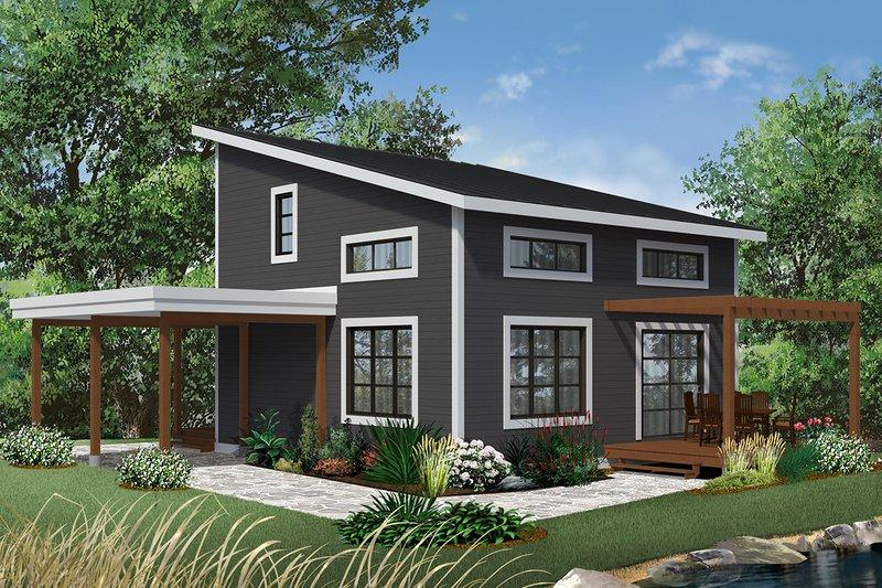 House Plan Design - Contemporary Exterior - Front Elevation Plan #23-2631