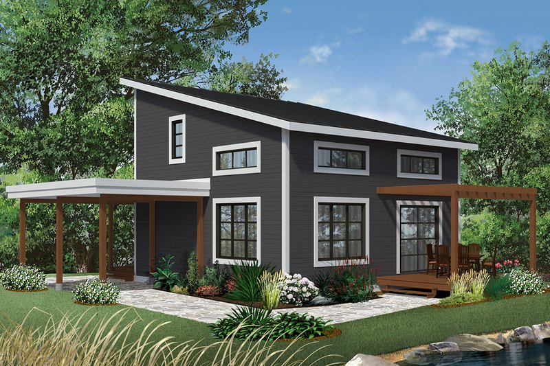 House Design - Contemporary Exterior - Front Elevation Plan #23-2631