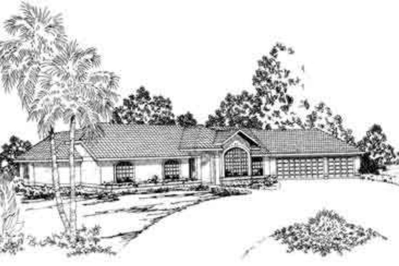 Mediterranean Exterior - Front Elevation Plan #124-247
