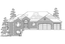 Dream House Plan - Ranch Exterior - Front Elevation Plan #5-127