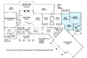 Ranch Style House Plan - 3 Beds 2.5 Baths 2830 Sq/Ft Plan #119-430 Floor Plan - Main Floor