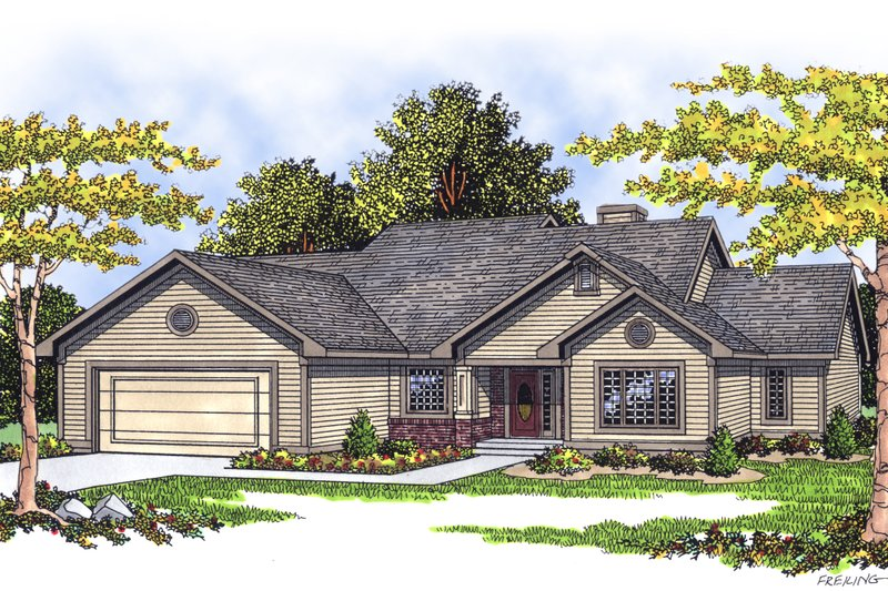 Traditional Exterior - Front Elevation Plan #70-189 - Houseplans.com