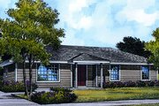 Ranch Style House Plan - 4 Beds 1.5 Baths 1118 Sq/Ft Plan #417-109 Exterior - Front Elevation