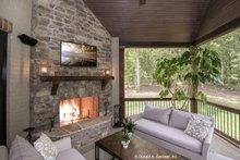 Architectural House Design - European Exterior - Covered Porch Plan #929-855