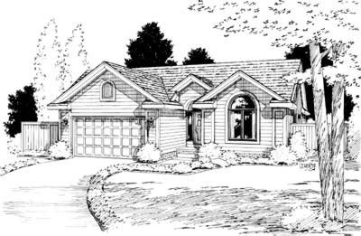 Traditional Exterior - Front Elevation Plan #20-451 - Houseplans.com