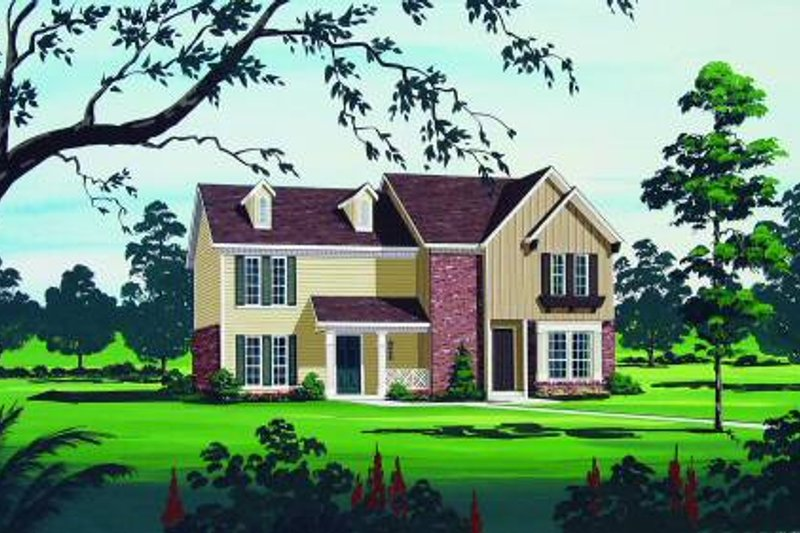 Traditional Exterior - Front Elevation Plan #45-297