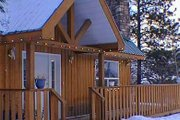 Cabin Style House Plan - 2 Beds 2 Baths 1677 Sq/Ft Plan #126-173 Exterior - Other Elevation